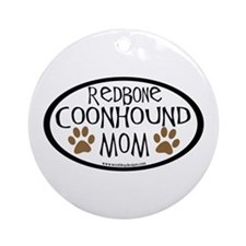 Redbone Coonhound Mom Oval Ornament (Round)