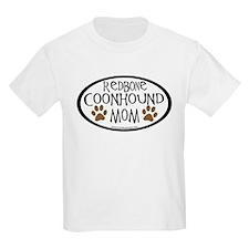 Redbone Coonhound Mom Oval T-Shirt