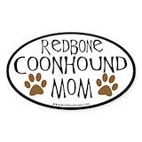 Redbone coonhound Stickers