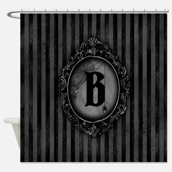 MONOGRAM Gothic Frame Spider Shower Curtain