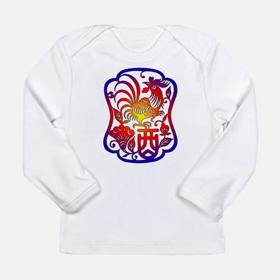 Chinese Zodiac Rooster Long Sleeve Infant T-Shirt