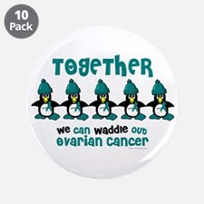 "Winter Penguin 4 (OC) 3.5"" Button (10 pack)"