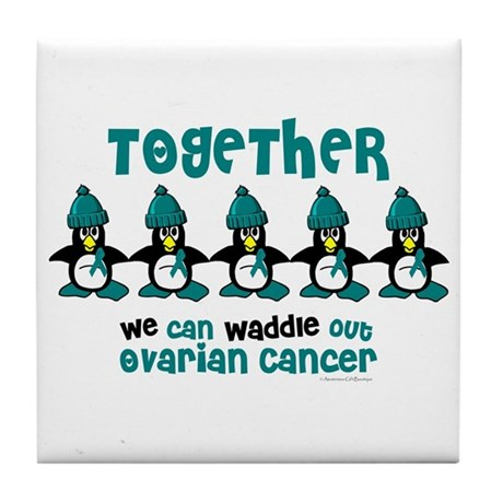 Winter Penguin 4 (OC) Tile Coaster