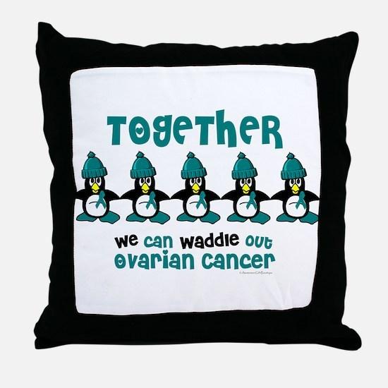 Winter Penguin 4 (OC) Throw Pillow