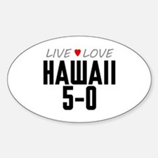 Live Love Hawaii 5-0 Oval Decal