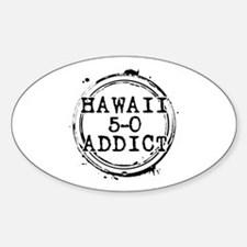 Hawaii 5-0 Addict Stamp Oval Decal