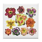 Ten Daylilies Tile Coaster