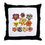 Ten Daylilies Throw Pillow