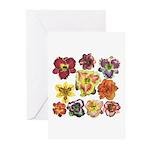 Ten Daylilies Greeting Cards (Pk of 20)