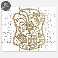 Chinese Zodiac Wood Rooster 1945 2005 Puzzle
