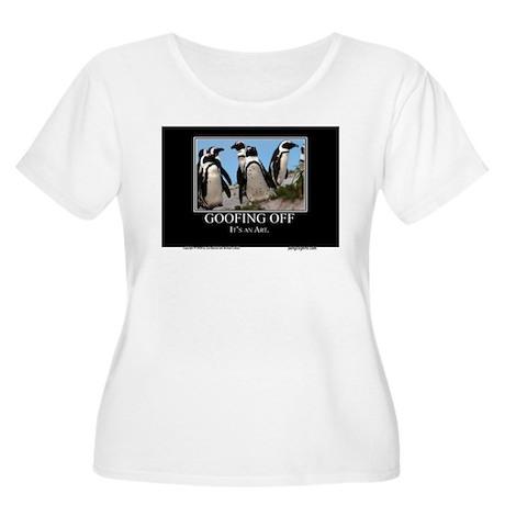 Goofing Off Women's Plus Size Scoop Neck T-Shirt