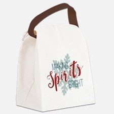 Making Spirits Bright Canvas Lunch Bag