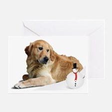 Golden Retriver Holidays Greeting Card