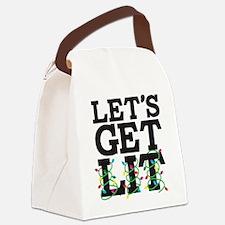 Lets Get Lit Canvas Lunch Bag