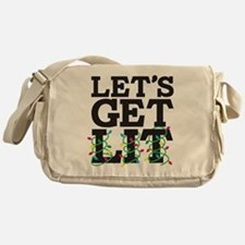 Lets Get Lit Messenger Bag