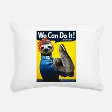 Rosie the Riveter Sloth Rectangular Canvas Pillow