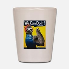 Rosie the Riveter Sloth Shot Glass