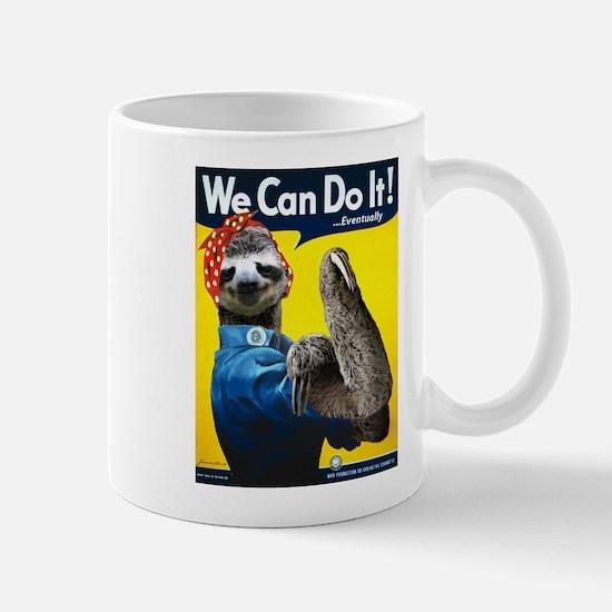 Rosie the Riveter Sloth Mug