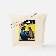 Rosie the Riveter Sloth Tote Bag