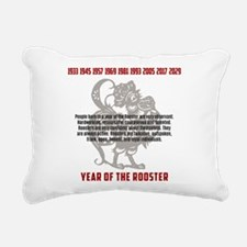 Chinese Zodiac Rooster T Rectangular Canvas Pillow
