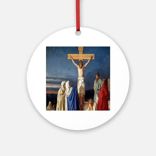 The Crucifixion of Jesus Round Ornament