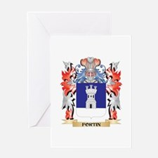 Fortin Coat of Arms - Family Crest Greeting Cards