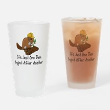 Cute Beaver Drinking Glass
