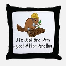 Cute Beaver Throw Pillow