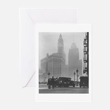 A Foggy Day in Chicago Greeting Cards (Package of