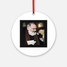 Saint Pio of Pietrelcina (Style A) Round Ornament