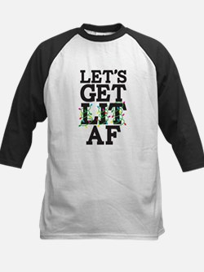 Lets Get Lit AF Kids Baseball Jersey
