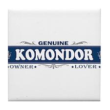 KOMONDOR Tile Coaster