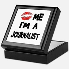 Kiss Me I'm A Journalist Keepsake Box