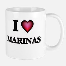 I Love Marinas Mugs