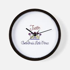 Justin - Grandma's Little Pri Wall Clock