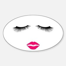 Lipstick and Eyelashes Decal