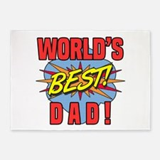 World's Best Dad 5'x7'Area Rug
