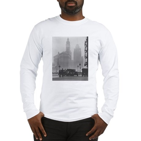 A Foggy Day in Chicago Long Sleeve T-Shirt
