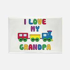 Love Grandpa Rectangle Magnet