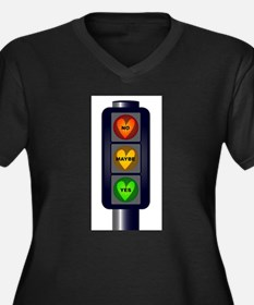 Yes No Maybe Traffic Lights Plus Size T-Shirt