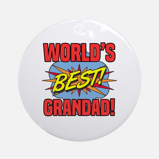 Unique Grandad Round Ornament