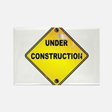 Yellow Under Construction Sign Magnets