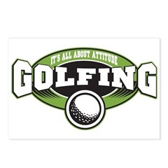 All About Attitude Golfing Postcards (Package of 8