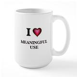 Meaningful use Large Mugs (15 oz)