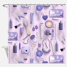 Purple Vanity Table Shower Curtain