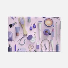 Purple Vanity Table Rectangle Magnet