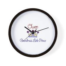 Owen - Grandma's Little Princ Wall Clock