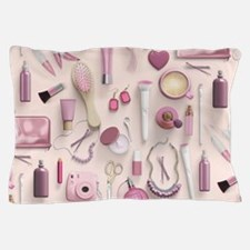 Pink Vanity Table Pillow Case