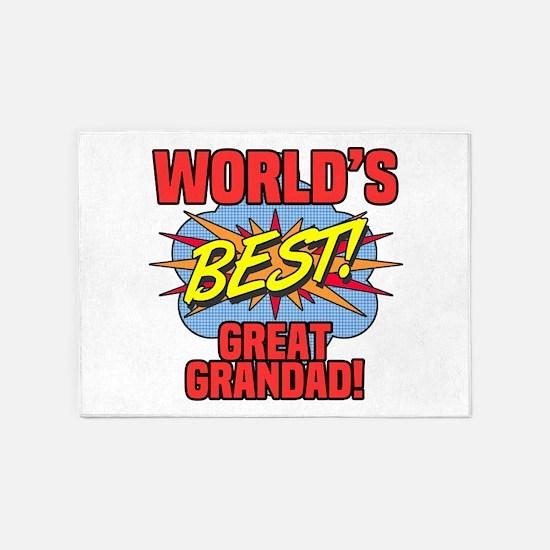 World's Best Great Grandad 5'x7'Area Rug