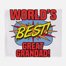World's Best Great Grandad Throw Blanket